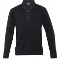 EGMZ Mens Merino Zip Pullover - Black