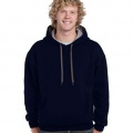 185C00 Adults Contrast Hoodie - Navy / Sports Grey
