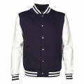 LMJ Adults Letterman Jacket - Navy