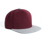 1105 Frack Snapback Cap - Maroon / Grey Marle
