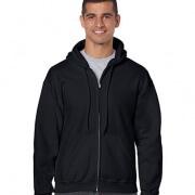 18600 Mens Basic Zip Hoodie - Black