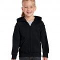 18600B Kids Basic Zip Hoodie - Black