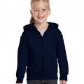 18600B Kids Basic Zip Hoodie - Navy