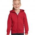 18600B Kids Basic Zip Hoodie - Red
