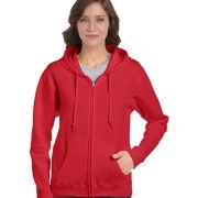 Heavy Blend Missy Fit Full Zip Hooded Sweatshirt