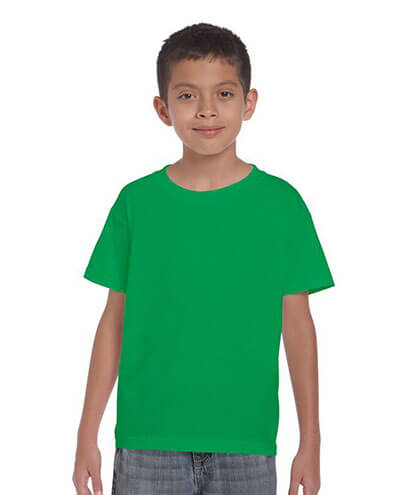2000B Kids Basic T-shirt - Irish Green