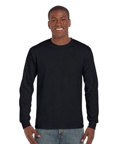 2400 Adults Basic Long Sleeve T-shirt - Black