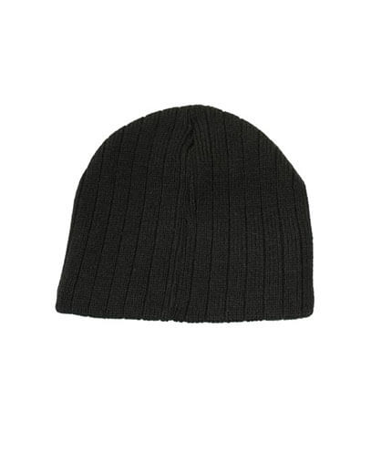 4189 Cable Knit Beanie - Black