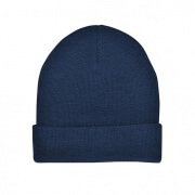 4367 Natural Wool Beanie - Navy
