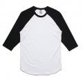5012 Adults Raglan T-shirt - White / Black
