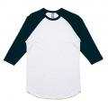 5012 Adults Raglan T-shirt - White / Navy