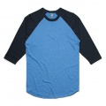 5012 Adults Raglan T-shirt - Arctic Marle / Navy