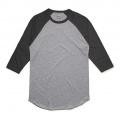 5012 Adults Raglan T-shirt - Grey Marle / Charcoal