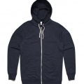 5107 Adults Traction Zip Hoodie - Navy Marle