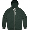 5107 Adults Traction Zip Hoodie - Forest Marle