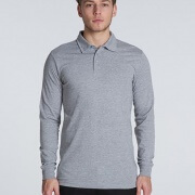 5404 Mens Chad Longsleeve Polo - Front