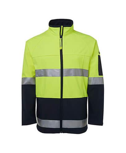 6D4LJ Adults Hi Viz Softshell Jacket - Front