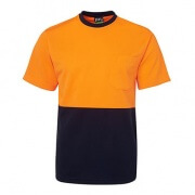 6HVT Adults Hi Viz Traditional T-Shirt - Orange front