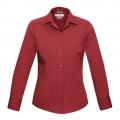 S316LL Womens Verve Long Sleeve Shirt - Deep Red
