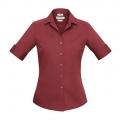 S316LS Womens Verve Short Sleeve Shirt - Deep Red
