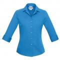 S316LT Womens Verve 3/4 Sleeve Shirt - Cyan