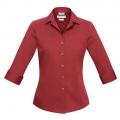 S316LT Womens Verve 3/4 Sleeve Shirt - Deep Red