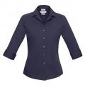 S316LT Womens Verve 3/4 Sleeve Shirt - Midnight Blue