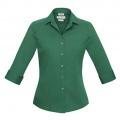 S316LT Womens Verve 3/4 Sleeve Shirt - New Green