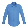 S316ML Mens Verve Long Sleeve Shirt - Cyan Front