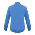 S316ML Mens Verve Long Sleeve Shirt - Cyan Back