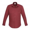 S316ML Mens Verve Long Sleeve Shirt - Deep Red