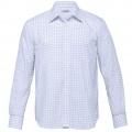 TAX Mens Axiom Check Long Sleeve Shirt - White / Mid Blue