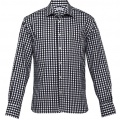 THC Mens Hartley Check Long Sleeve Shirt - Black / White