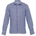 THC Mens Hartley Check Long Sleeve Shirt - Navy / White