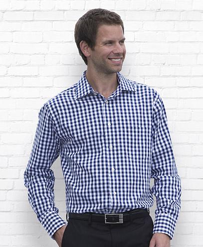 THC Mens Hartley Check Long Sleeve Shirt - Worn
