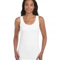 64200L Womens Fitted Tank - White