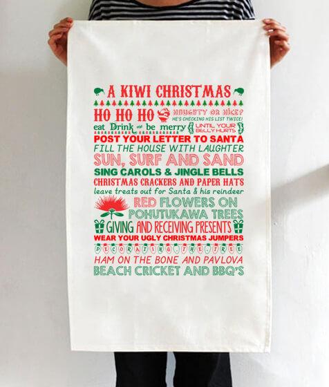 Kiwi Christmas Tea Towel