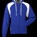 1511 Mens Panorama Contrast Zip Hoodie - Royal / White