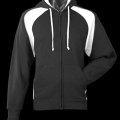 1511 Mens Panorama Contrast Zip Hoodie - Black / White
