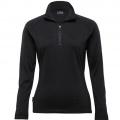 WEGMZ Womens Merino Zip Pullover - Black
