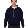 185C00 Adults Contrast Hoodie - Navy / Gold