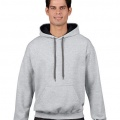 185C00 Adults Contrast Hoodie - Sports Grey / Black