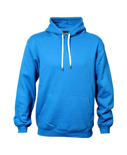 DCH Adults Contrast Drawcord Hoodie - Aqua/White