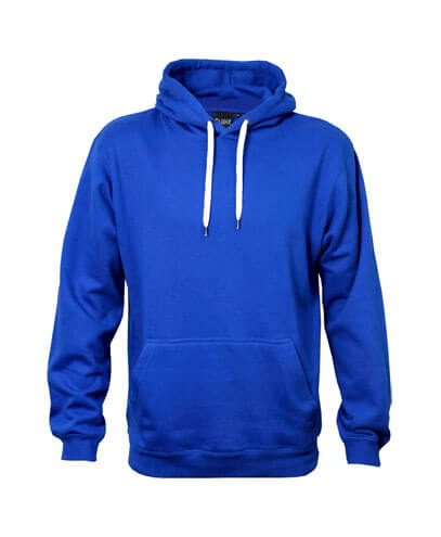 DCH Adults Contrast Drawcord Hoodie - Deep Royal/White