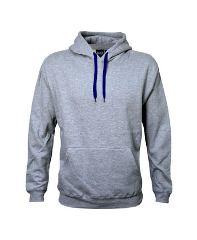 DCH Adults Contrast Drawcord Hoodie - Grey Marle/Navy