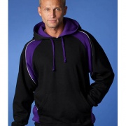 Adults Huxley Contrast Hoodie - Black / Purple