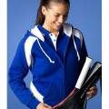 2511 Womens Panorama Contrast Zip Hoodie - Royal / White on Model