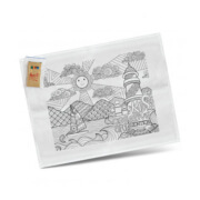 116594 Cotton Colouring-In Tea Towel - Printed Example