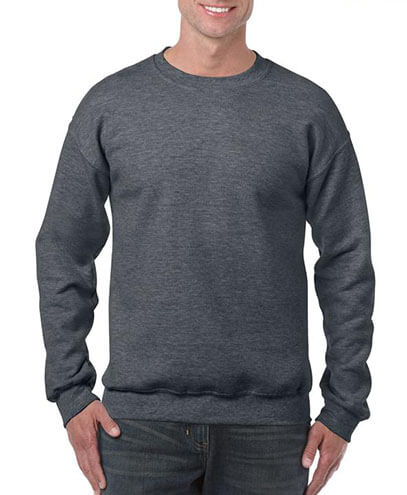 18000 Adults Basic Sweatshirt - Dark Heather