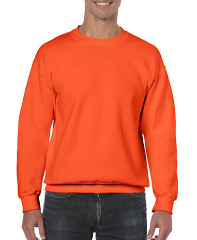 18000 Adults Basic Sweatshirt - Orange